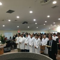 Batismo da Igreja Cristã Maranata em Marlborough - Estados Unidos